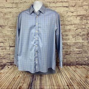 Charles Trywhitt Blue Check Non Iron Shirt